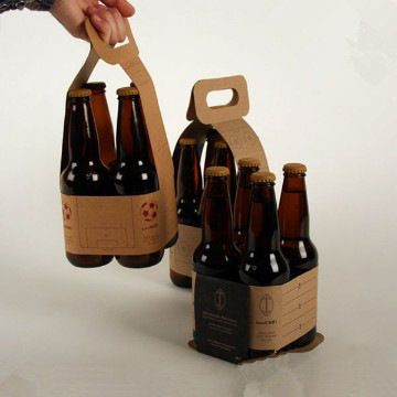 Recycle Luxury 4 Pack Paper Beer Carrier Box Beer Packaging Design Beer Carrier Beer Packaging