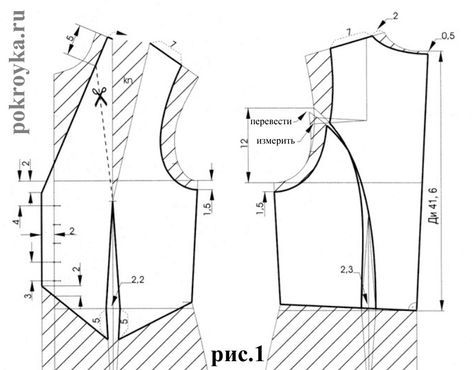 How to sew a vest? Pattern of women\'s vest | Sewing | Pinterest ...