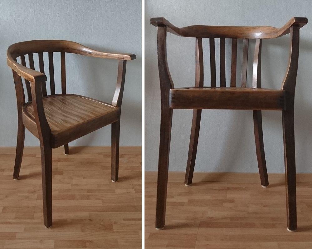Schreibtischstuhl antik  Details zu Armlehnstuhl Bauhaus Art Deco Gropius Stuhl Holzstuhl ...