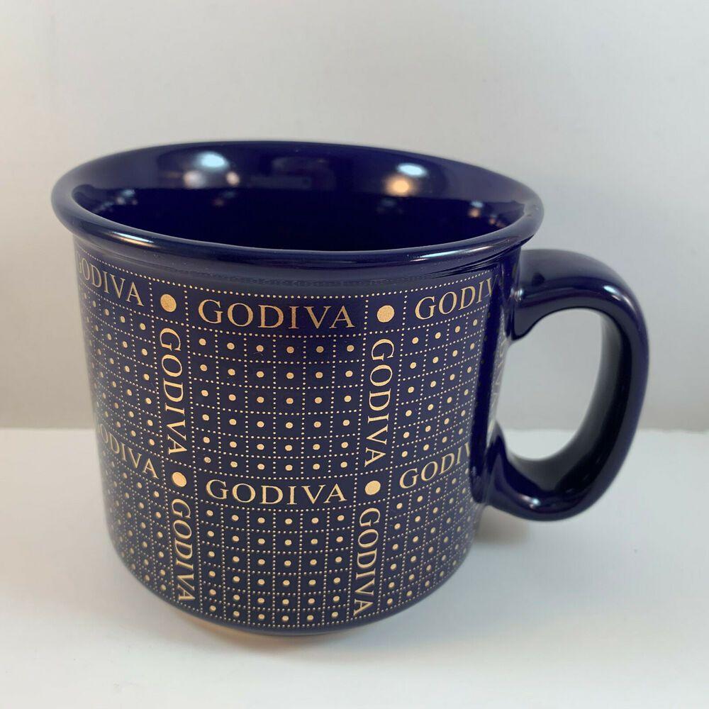 Godiva Chocolate Coffee Mug Blue Large 16 Oz Ebay In 2020 Chocolate Coffee Godiva Chocolate Best Coffee Mugs