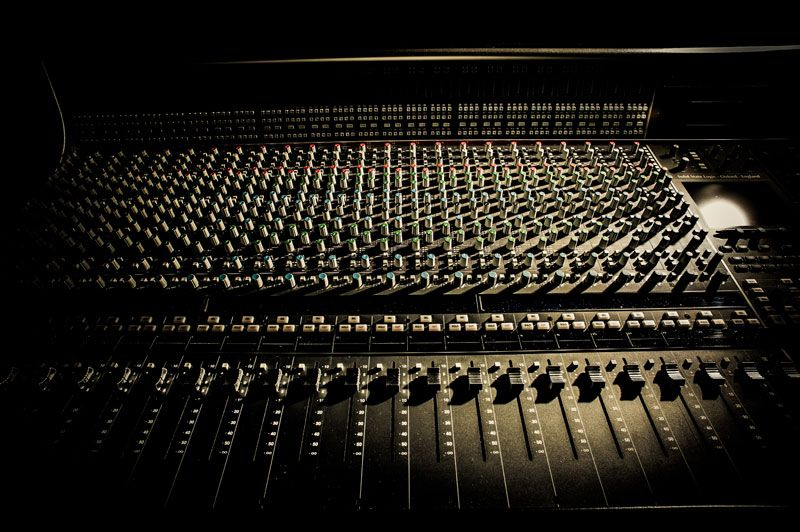 A Sharp Recording Studio - Solid State Logic AWS 948 console