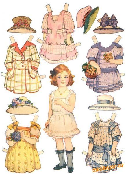 Papírové PANENKY moderní i retro pro malé i velké holky a možná i kluky