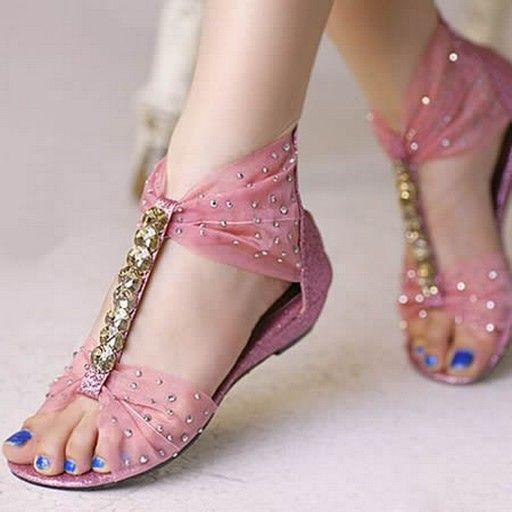 Pink wedding sandal | Zapatos con perlas, Zapatos de chicas
