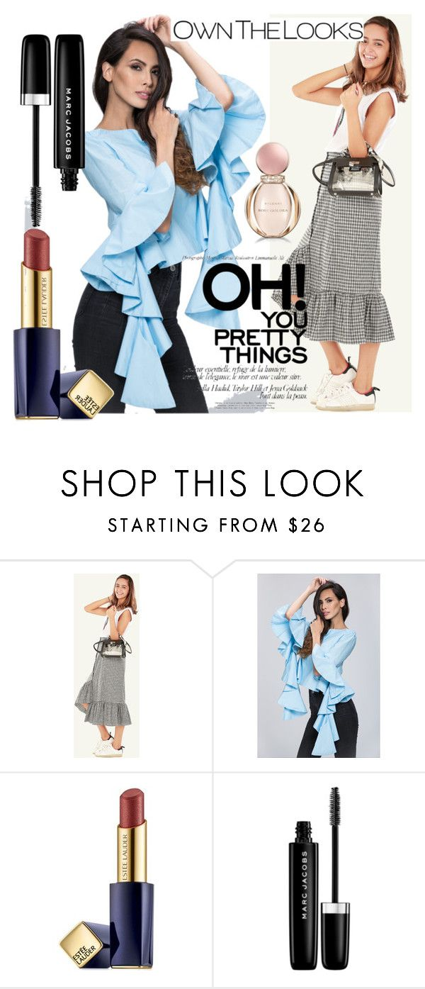"""""""45 ownthelooks"""" by melee-879 ❤ liked on Polyvore featuring Estée Lauder, Marc Jacobs and Bulgari"""