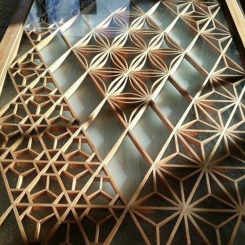 Japanese Woodworked Kumiko 組子 Japanese Woodworking Japanese