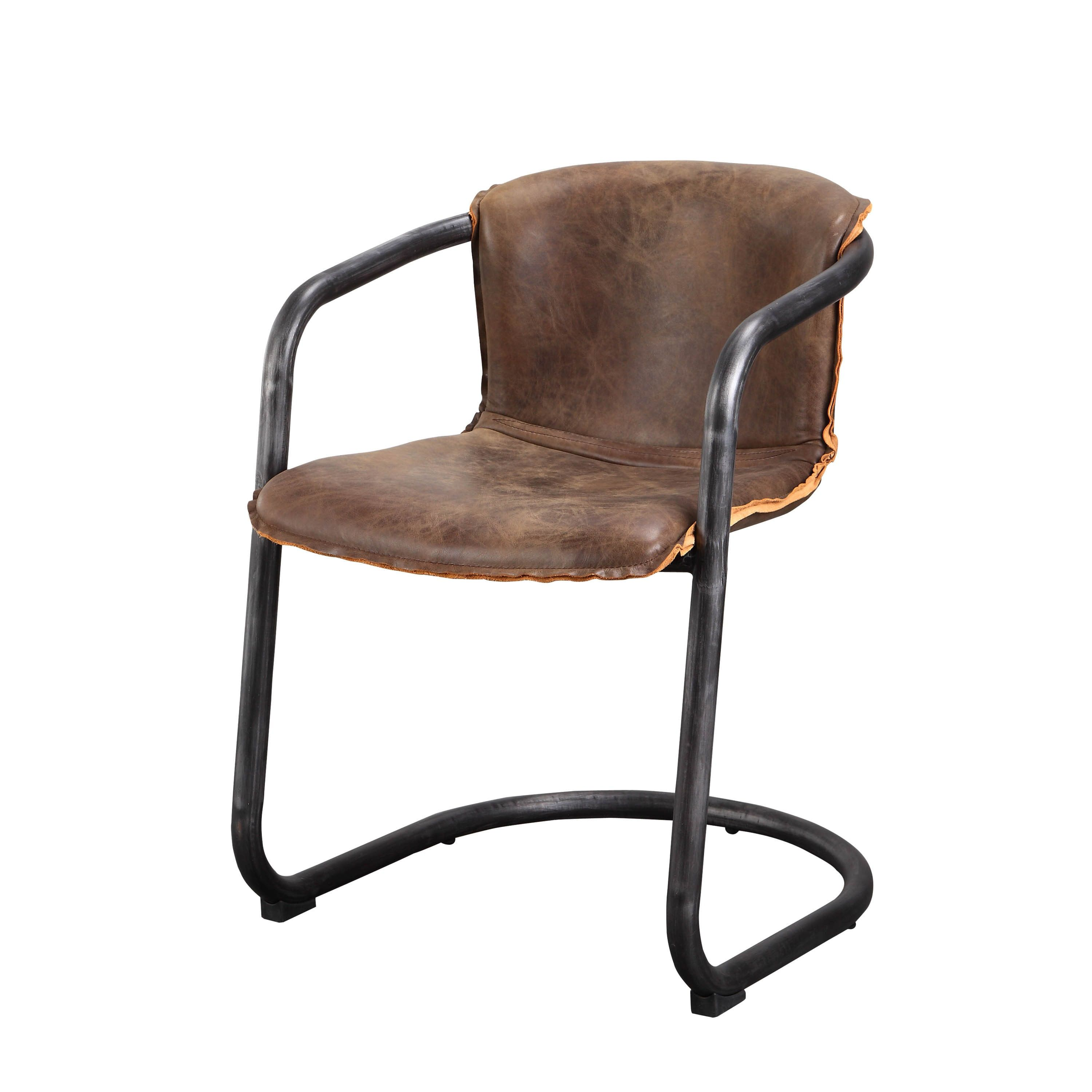 rustic leather dining chairs. Aurelle Home Distressed Rustic Leather Dining Chair (Set Of 2) | Overstock.com Shopping - The Best Deals On Chairs