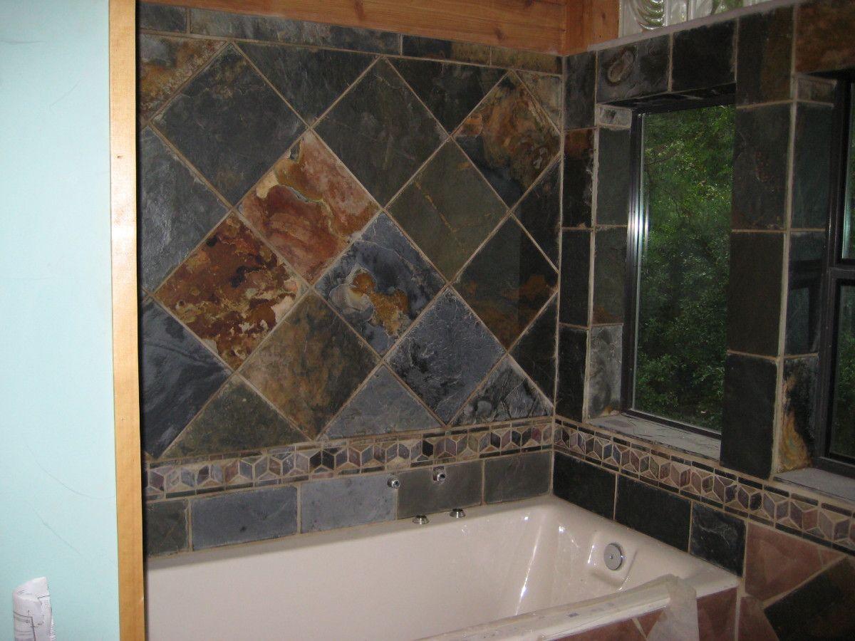 Zciis Slate Tile Shower Walls Design Ideas And