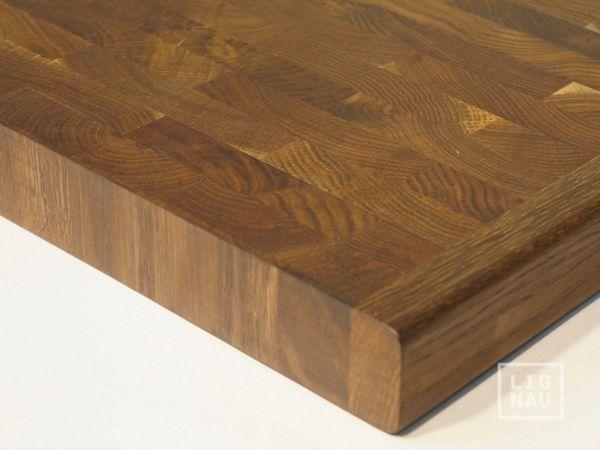 arbeitsplatte massivholzplatte r uchereiche stirnholz hirnholz 40 mm farblos naturge lt k che. Black Bedroom Furniture Sets. Home Design Ideas