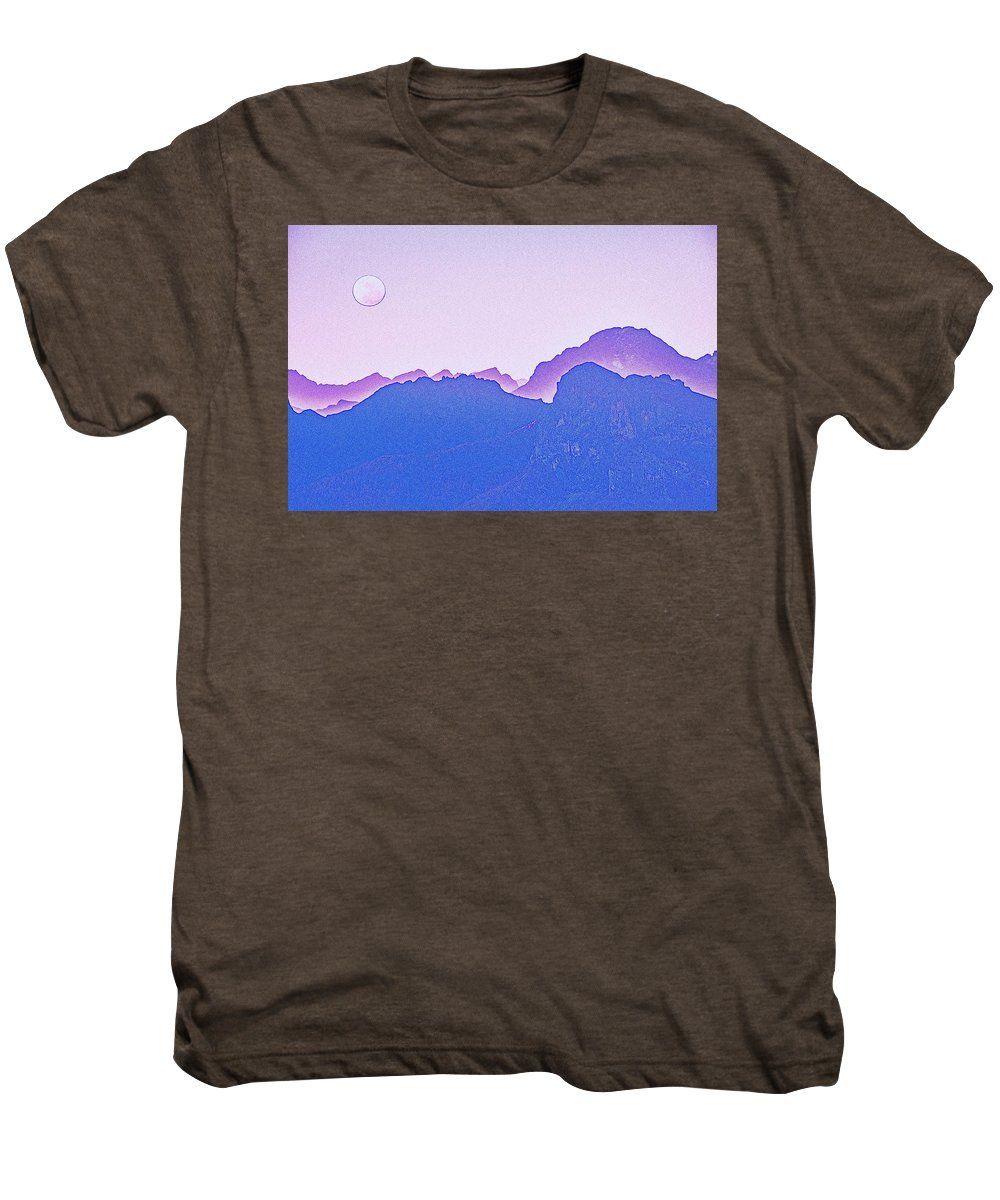 Purple Sunset Over Sierras By Adam Asar - Men's Premium T-Shirt