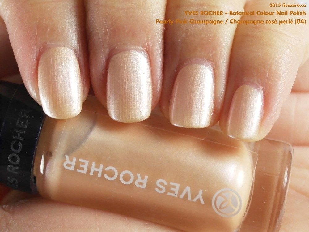 Yves Rocher Botanical Colour Nail Polish in Pearly Pink Champagne ...