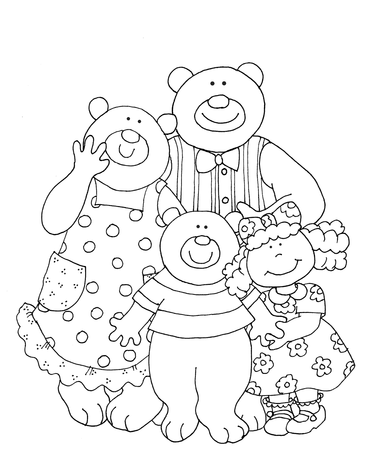Colouring pages goldilocks and three bears - Goldilocks And The Three Bears