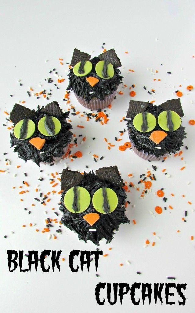 Black Cat Cupcakes - Val Event Gal