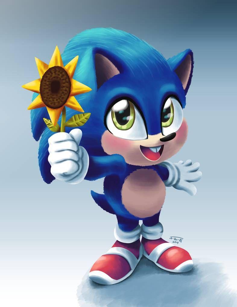 Baby Sonic By Jo Vee Al On Deviantart In 2020 Hedgehog Art Sonic Fan Characters Hedgehog Movie