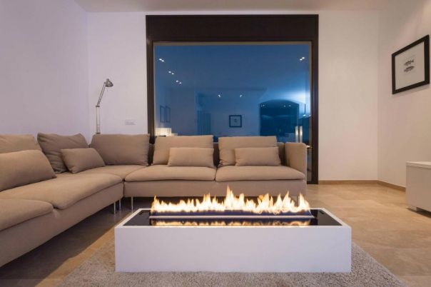 Decoflame Ellipse Flueless Fire: Planika Intelligent Fire