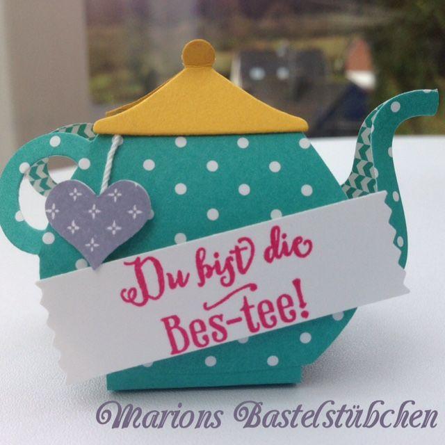 Willkommen in Marions Bastelstübchen: Blog-Hop: kleine Teekanne als Give-Away - Tutorial