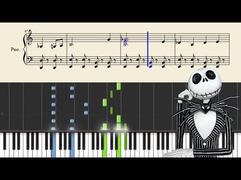 The Nightmare Before Christmas This Is Halloween Piano