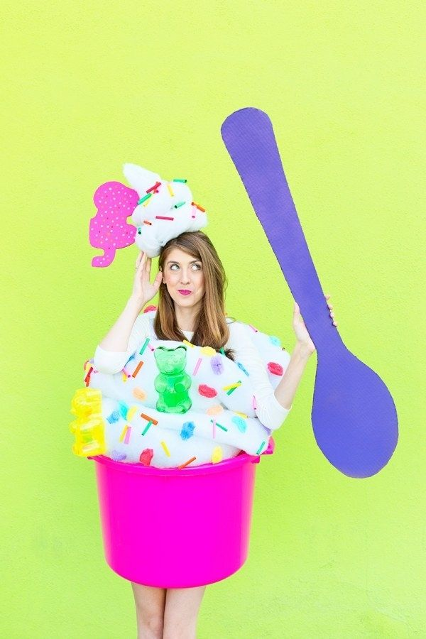 Turn Yourself Into A Giant Cup Of Froyo With Some Cotton Batting And Plastic Drink Tub 26 Costumes For Anyone Obsessed Food