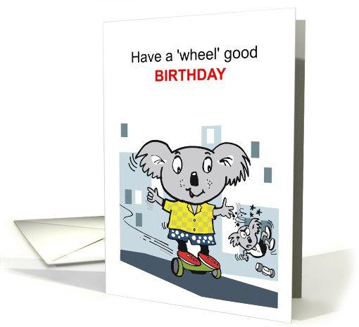 Cute Koala Bear Cartoon Showing Bears Balancing On Hover Boards Card Cute Koala Bear Bear Cartoon Koala Bear