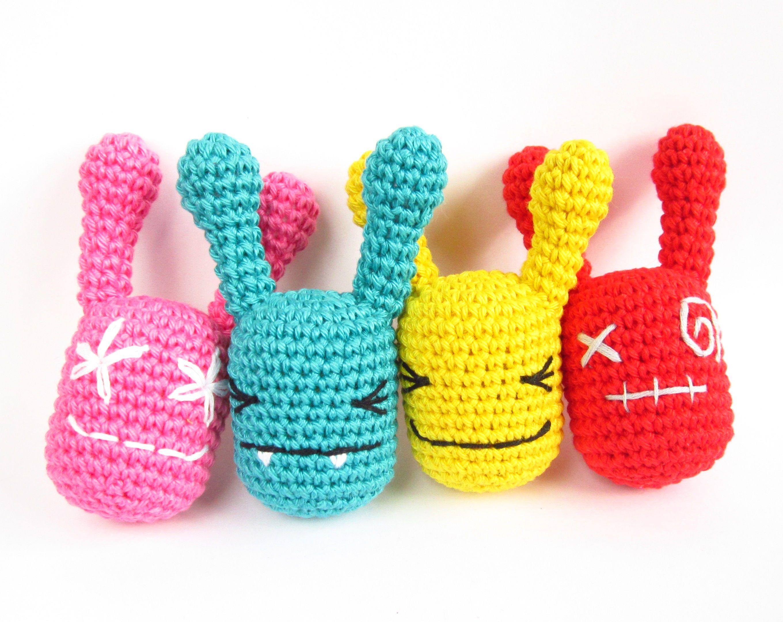 Amigurumi Rattle Free Pattern : Free crochet pattern rattle monsters kristi tullus sidrun