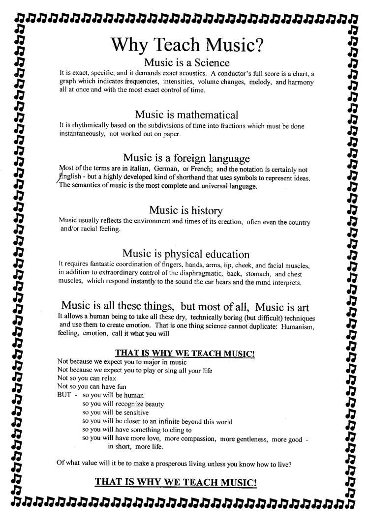 Why Teach Music | Music in the Classroom | Middle school music