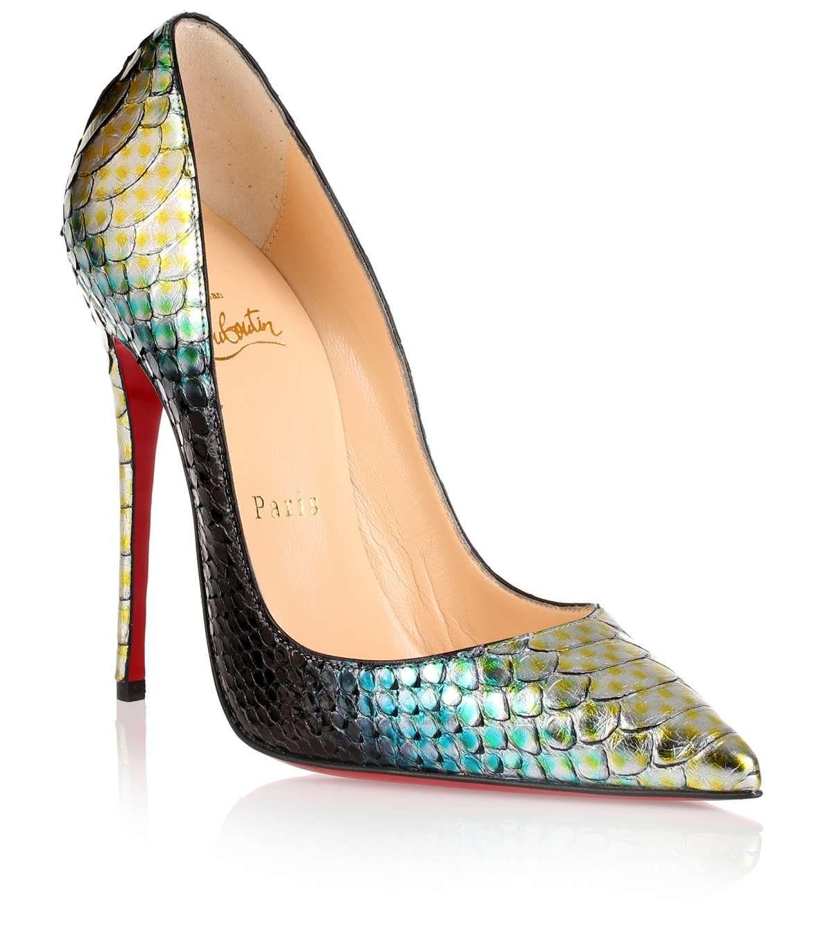 1386655cd7ad So Kate 120 green python pump Christian Louboutin - Savannah s ...