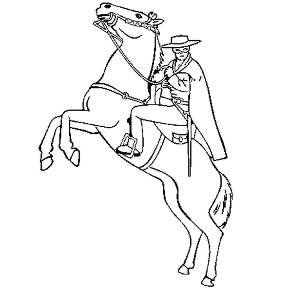 Coloriage Zorro.Coloriage Zorro En Ligne Gratuit A Imprimer Themes Anniversaire