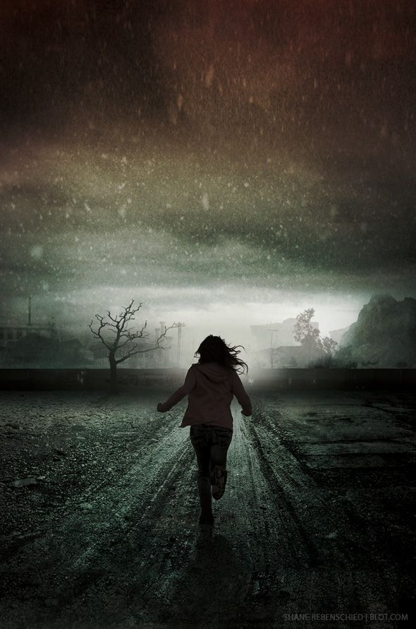 Girl Running In Rain Crying Running down road | Great Book ...
