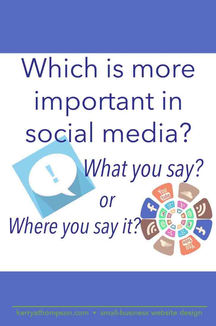 Which do you think is more important in social media