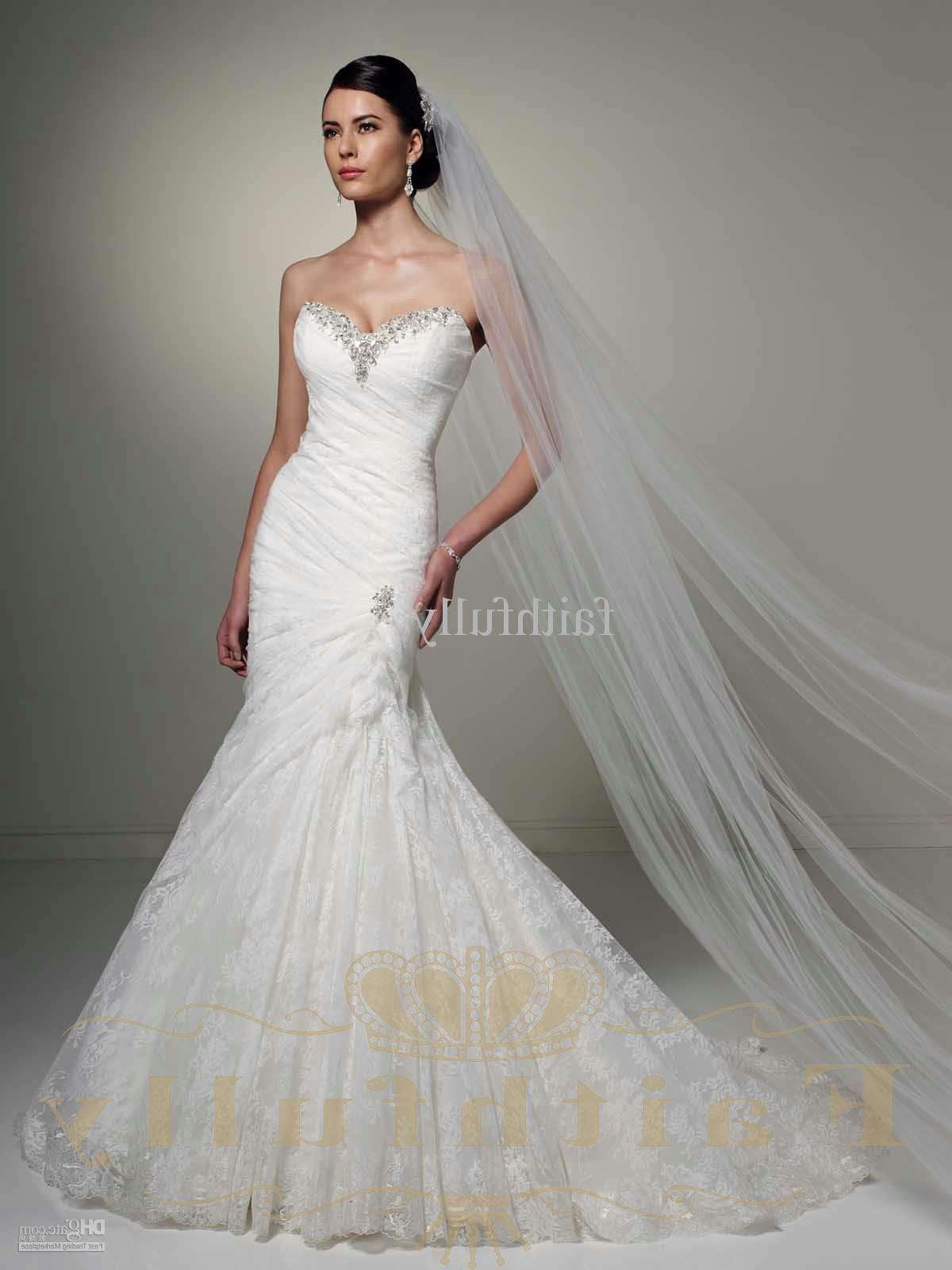 Trumpet Wedding Dress With Corset Back [ 1600 x 1200 Pixel ]