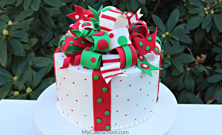 How to Make a Loopy Christmas Bow- Cake Decorating Video