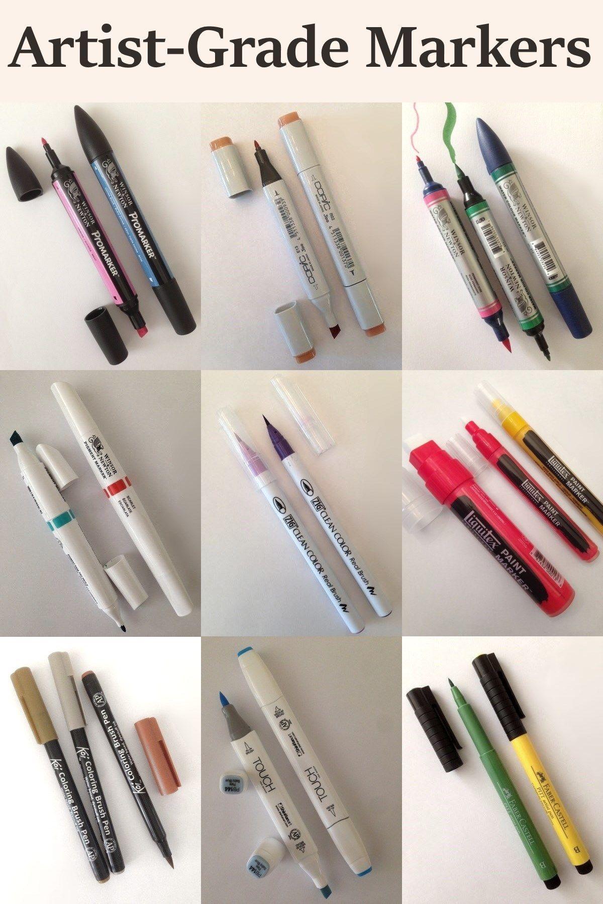 50 Premium Watercolor Brush Pens Best Art Supplies And Paint