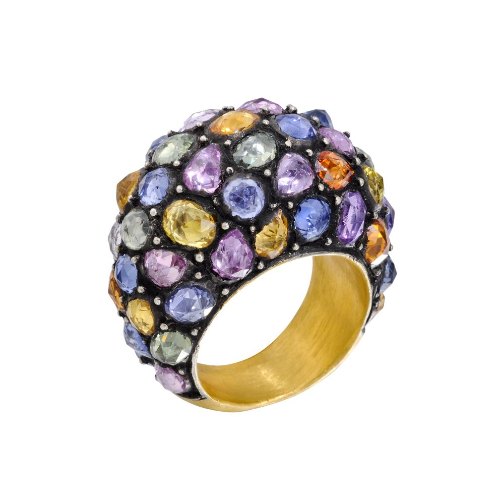 l matthew multicolored by enamel bracelet jewelry product campbell gallery m bangle laurenza gold accented c lyst mcl sapphire