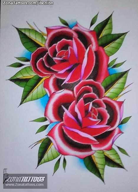 Diseño De Rosas Flores Tatuajes Tatuajes Disenos De Unas Y