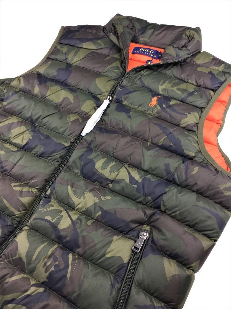 8c62e771 Polo Ralph Lauren Men Military Army Camo Down Puffer Vest M, L, XL  #PoloRalphLauren