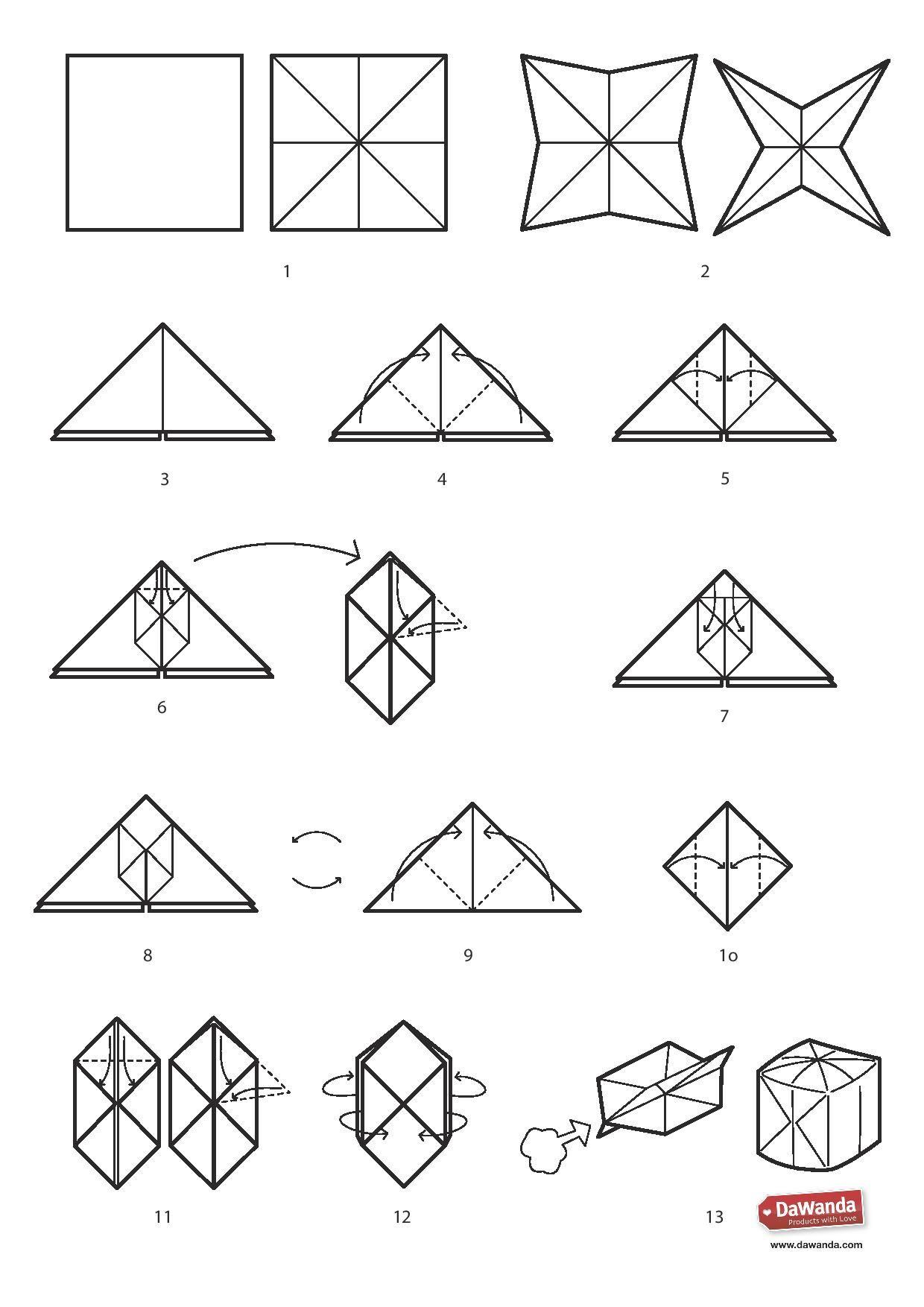 DIY tutorial: Lichtsnoer origami ballon via DaWanda.com