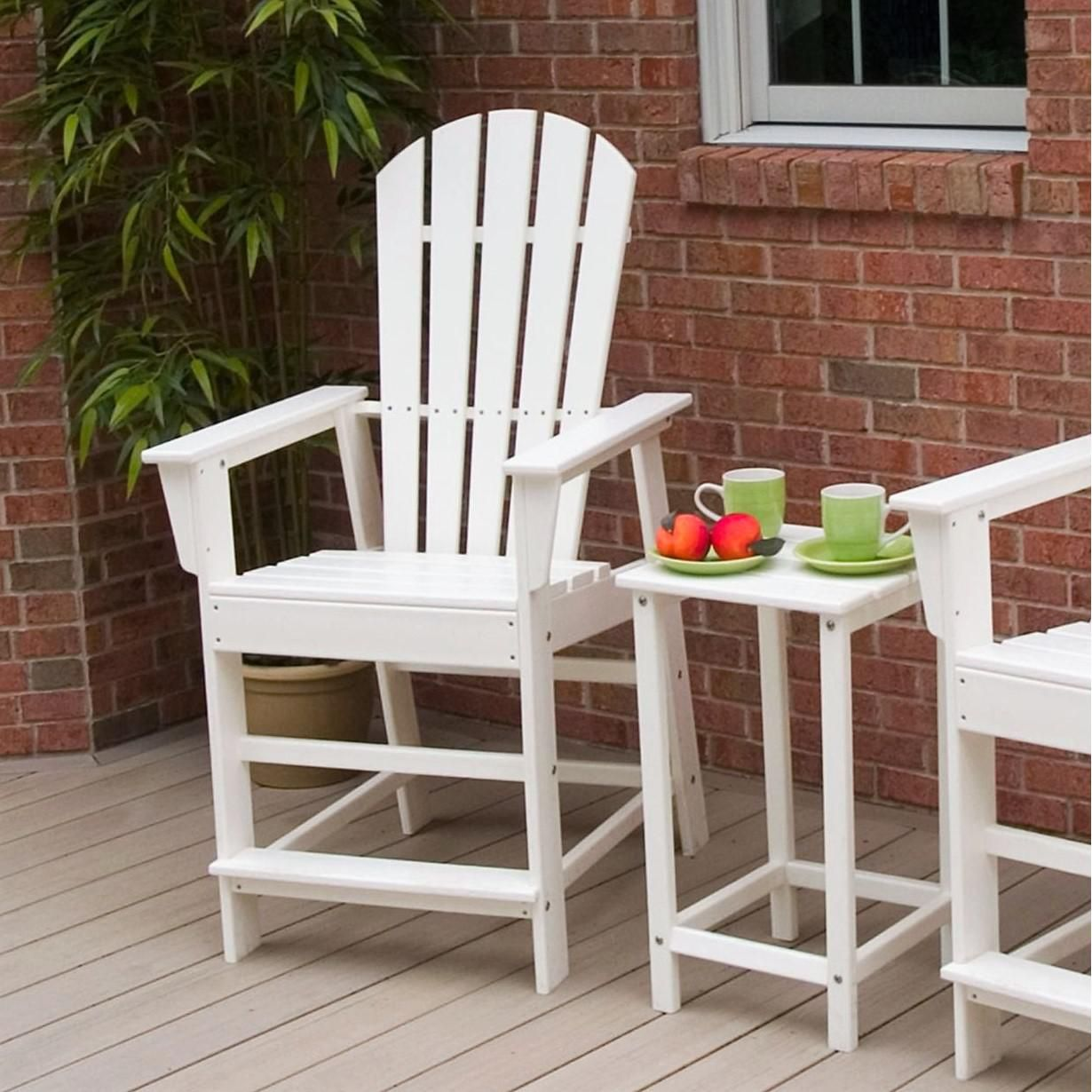 Groovy Polywood South Beach White Recycled Plastic Wood Patio Customarchery Wood Chair Design Ideas Customarcherynet