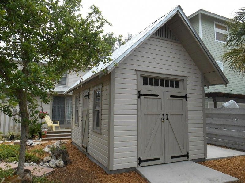 Historic Garden Shed Work Shop Storage Shed Exposed Rafter Tails 10 X14 Gable Shed Buildingashed Backyard Storage Sheds Backyard Sheds Shed Design