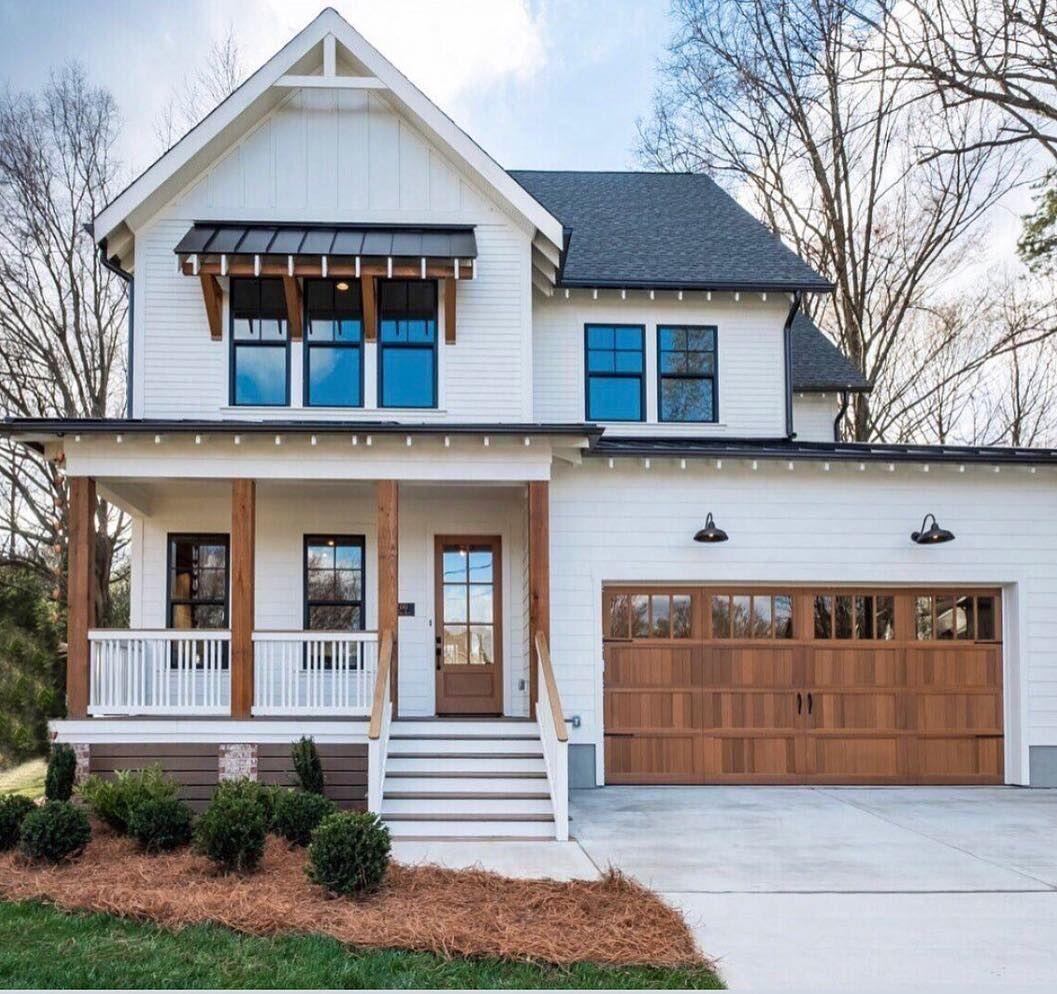27 Modern Farmhouse Exterior Design Ideas For Stylish But Simple Look Modern Farmhouse Exterior House Exterior House Styles