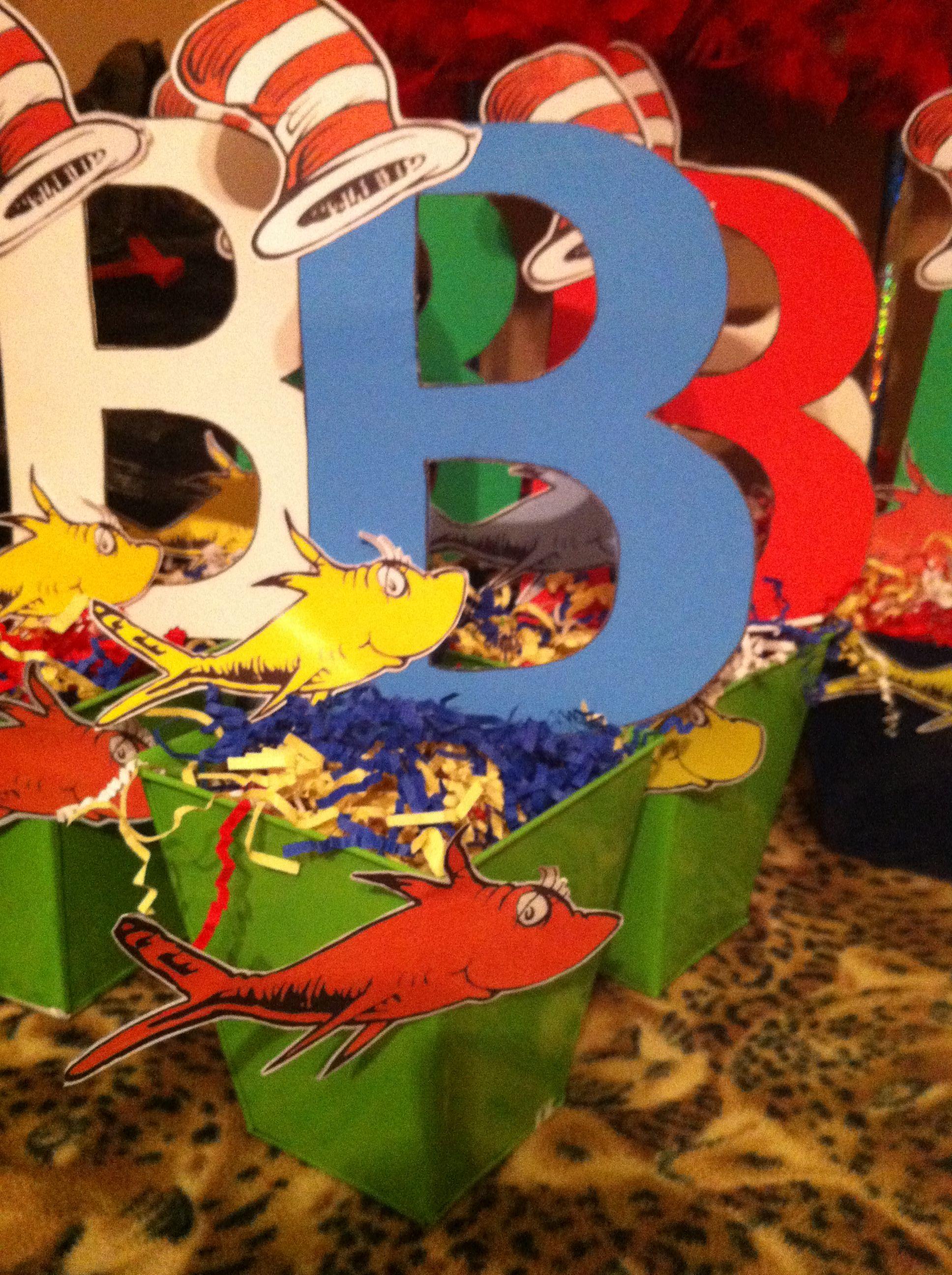 My Dr. Seuss baby shower centerpieces   My stuff ...