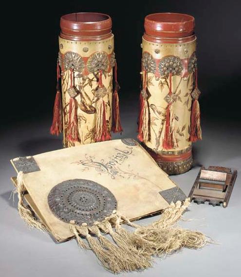 Pair Lama Enameled copper