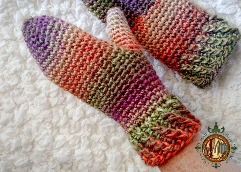 Twisted Mittens for the Crochet Mitten Drive! | Mitones