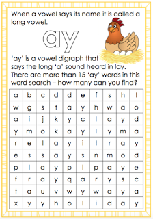 Long a vowel sound - ay worksheet. Free and printable from Classroom ...