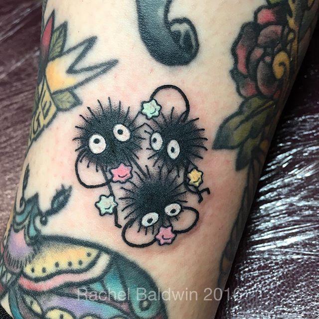Rachael Baldwin Soot Sprites For Rach Sootsprites Soots Studioghiblitattoo Armeltatowierungen Ghibli Tattoo Bein Tatowierungen