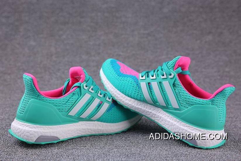f35a01cc7 Discount Adidas Ultra Boosts Womens Running Shoes Green Pink White