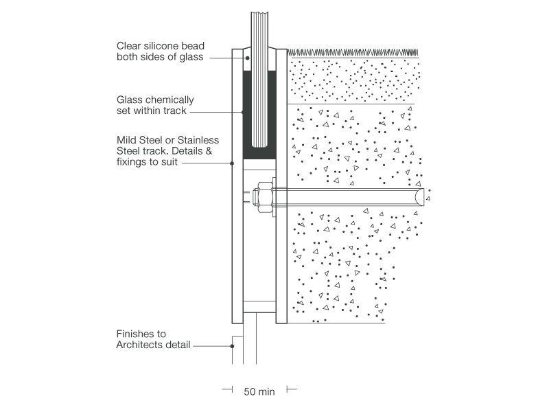 structural glass railing details handrails. Black Bedroom Furniture Sets. Home Design Ideas