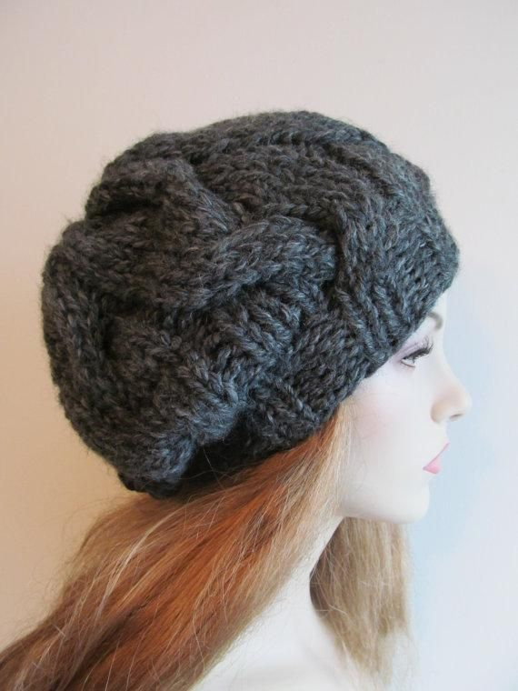 Cabled Slouchy Super Bulky Hat Knitting Patterns Cable And Patterns