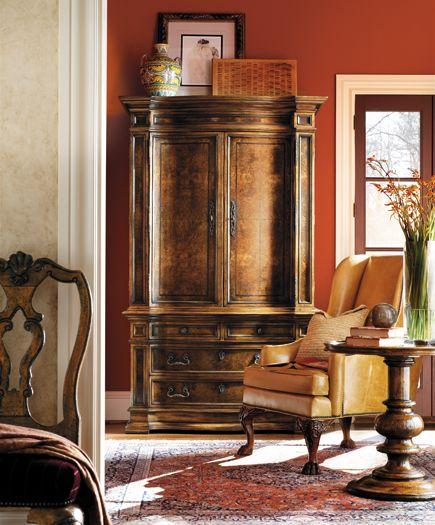 Interior Decorators In Michigan: Henredon Castellan Collection Tuscan Armoire Showroom