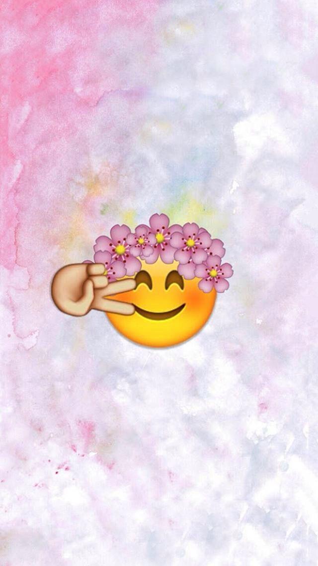 Emoji I Love Emojis And Flower Crowns And Peace Signs It Great Pin It And Follow Me Menggambar Emoji Wallpaper Ponsel Emoji