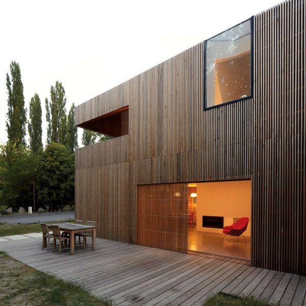 Belle maison en bois contemporaine au sud de la France | Häuser ...