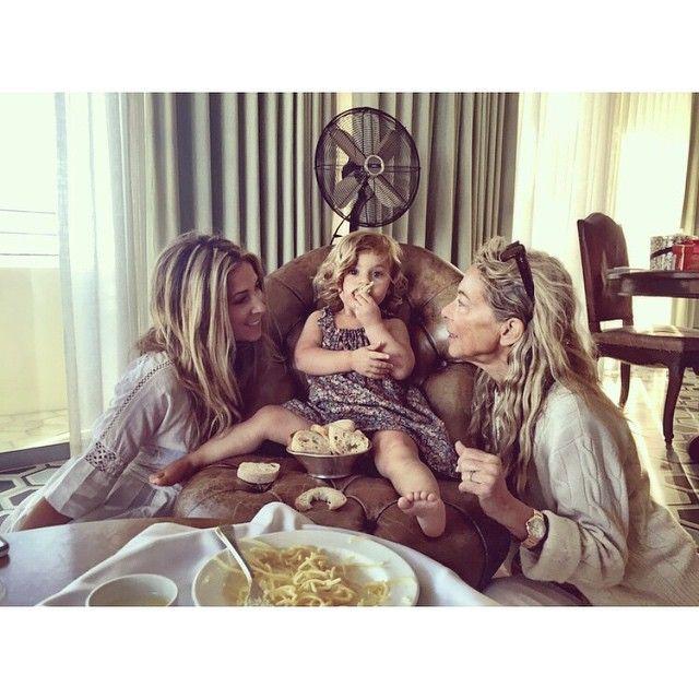 Because Italians do it best! #threegenerations #pastaandbreadbabies #tbt to birthday carbs with my girls #loveshacklife #loveshackgirls #scarlettandgaga